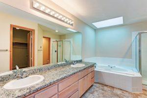licht in badkamer